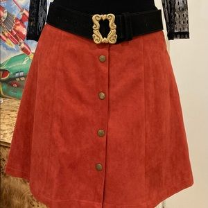 Faux Suede 70's style Skirt